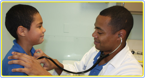 Dr. Young Examining Patient
